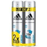 Adidas Déodorant Adidas Fresh - 2x200ml