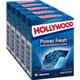 Hollywood Chewing-gum Hollywood Power Fresh menthe forte- 70g