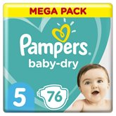 Pampers Couches Pampers Baby Dry Taille 5 - x76