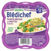Blédina Repas Blédichef Bledina Polenta brocolis carottes 230g