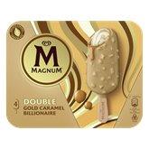 Magnum Bâtonnets glace Magnum Double gold caramel x4 - 284g