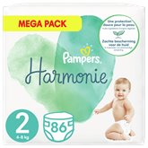 Pampers Couches Pampers Harmonie Taille 2 : 4-8kg - x86